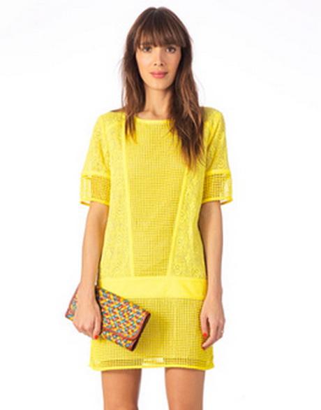 robe bustier jaune. Black Bedroom Furniture Sets. Home Design Ideas