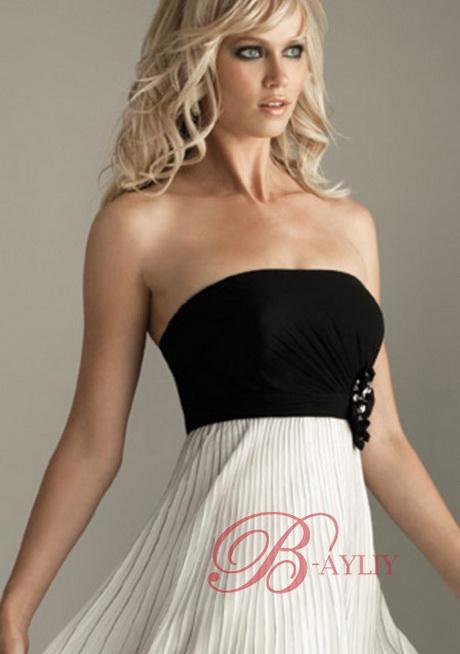 robe de cocktail noire et blanche. Black Bedroom Furniture Sets. Home Design Ideas