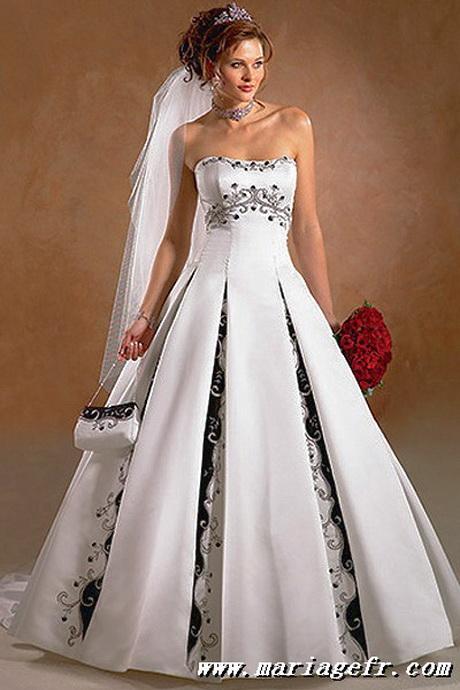 Robe de mariage noir et blanc for Robe de mariage et jupe