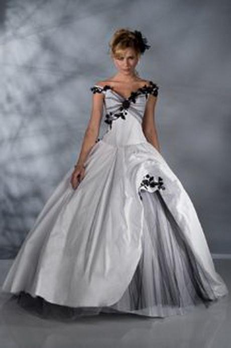 Robe de mariage noir et blanc