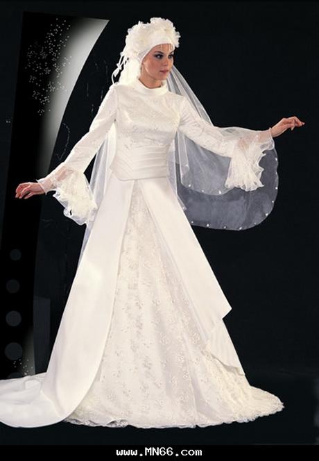 Robe de mariage pour femme voilée