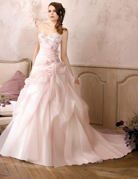 robe de mariage rose. Black Bedroom Furniture Sets. Home Design Ideas