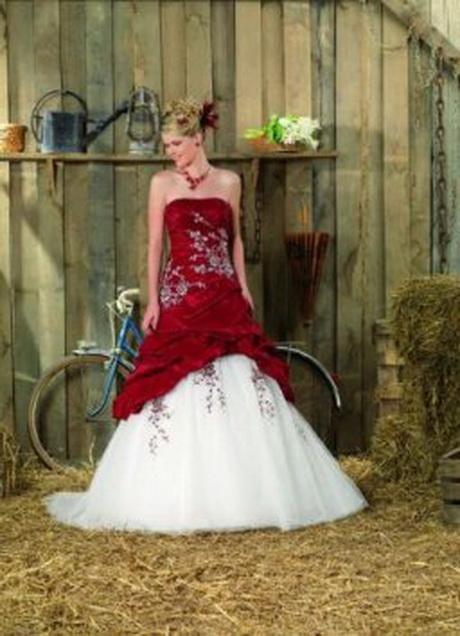 Robe de mariée rouge robe mariage rouge pas cher – belleamour.
