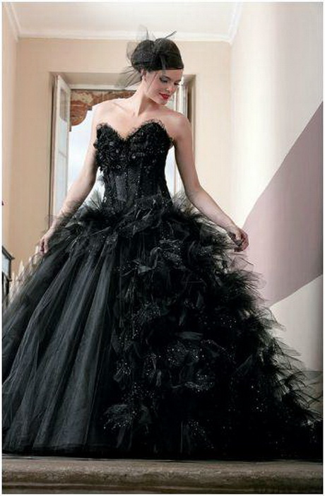 Robe De Mariée Noire : robe de mari e noire ~ Dallasstarsshop.com Idées de Décoration