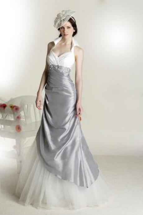 robe de mariee blanche et grise