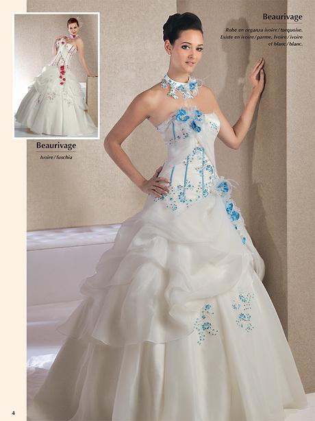 Robe de mariee blanche et turquoise for Robe blanche et bleue pour mariage