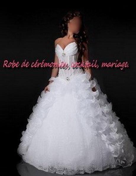 Robe de mariée NV blanche à bustier transparent …