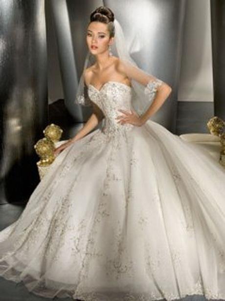 robe de bal sweetheart train chapelle satiné organza Robe de mariée ...