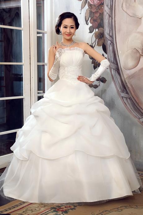 robe de mariée pas cher ivoire blanc roses champagne. Modèle ...