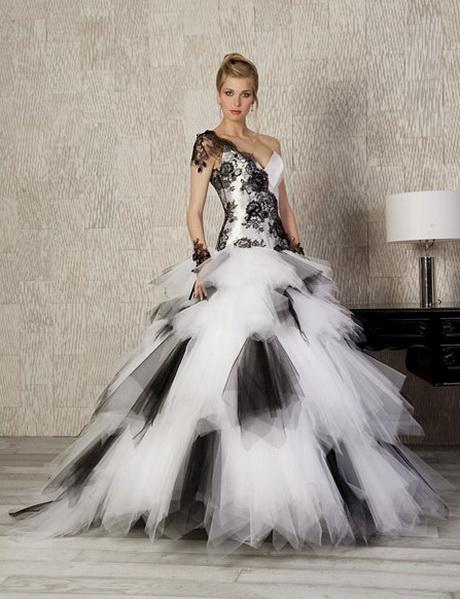 robe de mariee noir et blanche. Black Bedroom Furniture Sets. Home Design Ideas