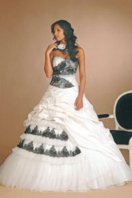 robe de mariee noire et blanche. Black Bedroom Furniture Sets. Home Design Ideas