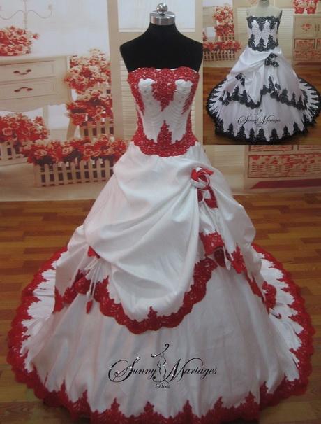 robe de mariee rouge et blanche. Black Bedroom Furniture Sets. Home Design Ideas