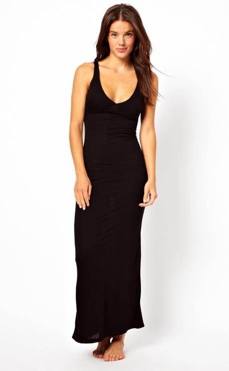 robe de plage longue noire. Black Bedroom Furniture Sets. Home Design Ideas