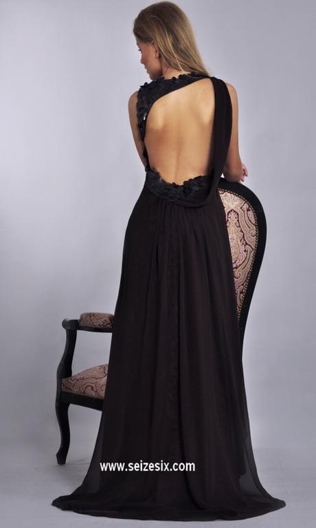 robe de soir e longue noire dos nu. Black Bedroom Furniture Sets. Home Design Ideas