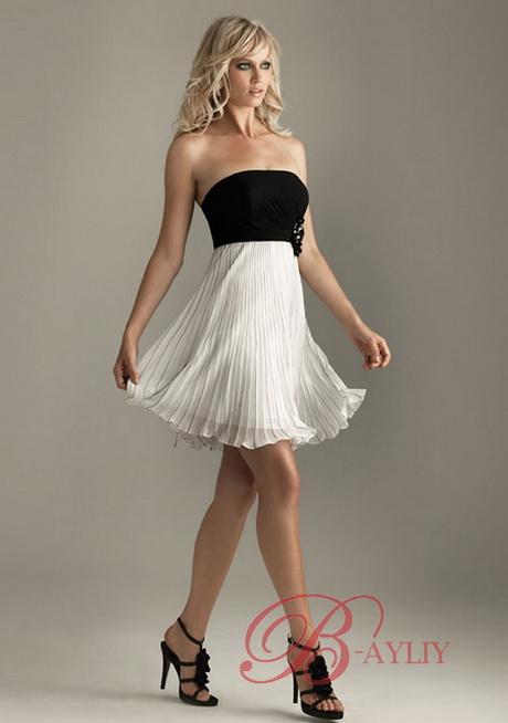 robe de soir e noir et blanche. Black Bedroom Furniture Sets. Home Design Ideas