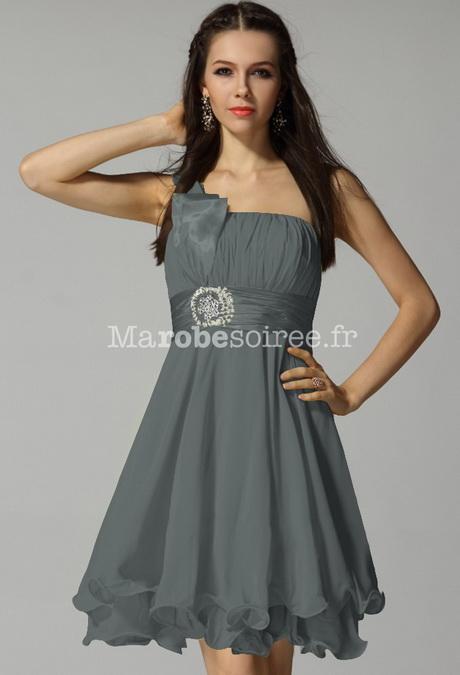 robe de soire courte la belle grise pas cher chouchourou holidays oo. Black Bedroom Furniture Sets. Home Design Ideas
