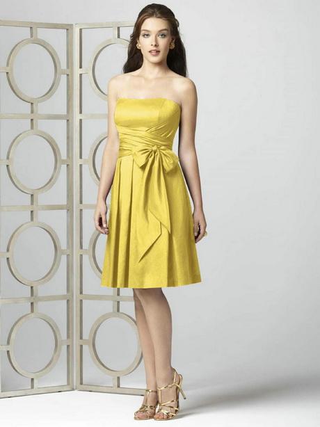 short prom dresses robe de soir e courte jaune