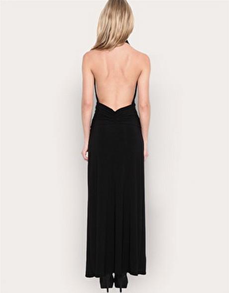 backless dress robe dos nu noire plongeant. Black Bedroom Furniture Sets. Home Design Ideas