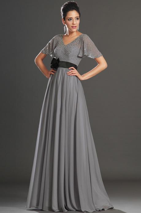 Robe longue avec manche for Robes grises pour mariage