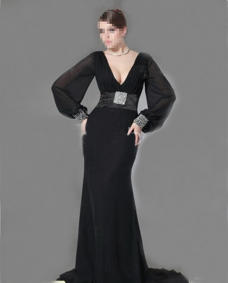 robe longue avec manches longues femme. Black Bedroom Furniture Sets. Home Design Ideas