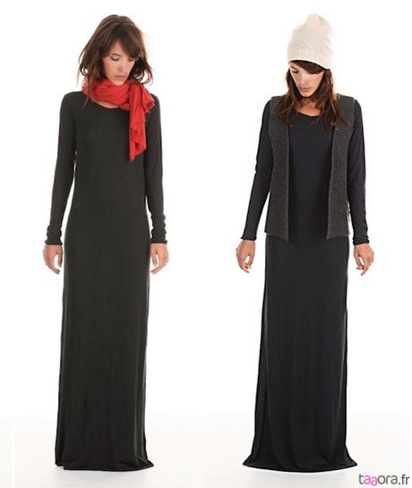 robe longue d hiver. Black Bedroom Furniture Sets. Home Design Ideas