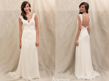 Robe longue dos nu plongeant for Robes dos nu pour mariage