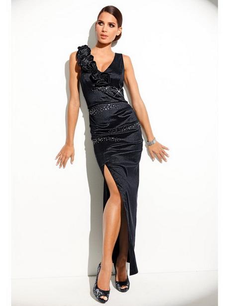 robe longue noire fendue. Black Bedroom Furniture Sets. Home Design Ideas