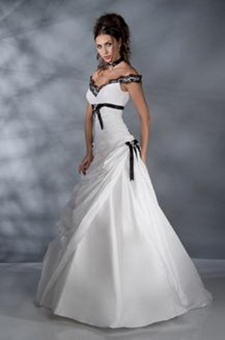 robe mariage noir et blanc. Black Bedroom Furniture Sets. Home Design Ideas