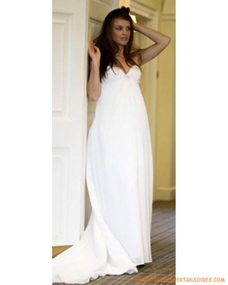 Robe simple pour femme enceinte en mousseline de soie robe de marià ...