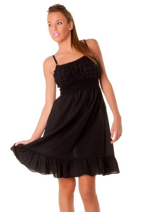 robe noire bretelle