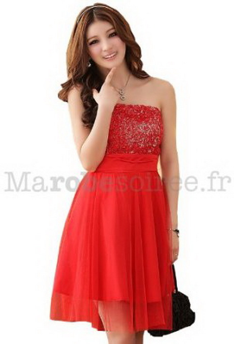 Robe pour mariage rouge for Robes classiques pour mariages