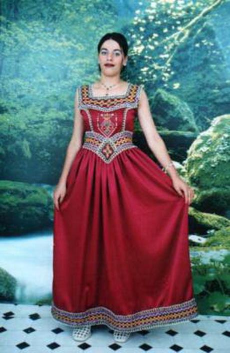 Robe Kabyle Robe De Soire Karakou Blousa Robe Tunisienne Robe Kabyle ...