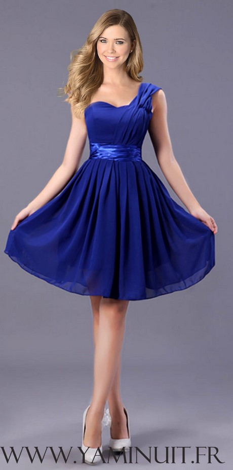 Robe bleu soir e for Robe bleue pour mariage