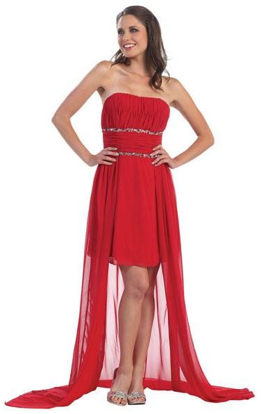 robe de bal rouge courte. Black Bedroom Furniture Sets. Home Design Ideas