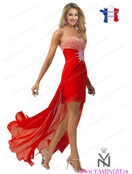 robe de soir e courte rouge et noir. Black Bedroom Furniture Sets. Home Design Ideas