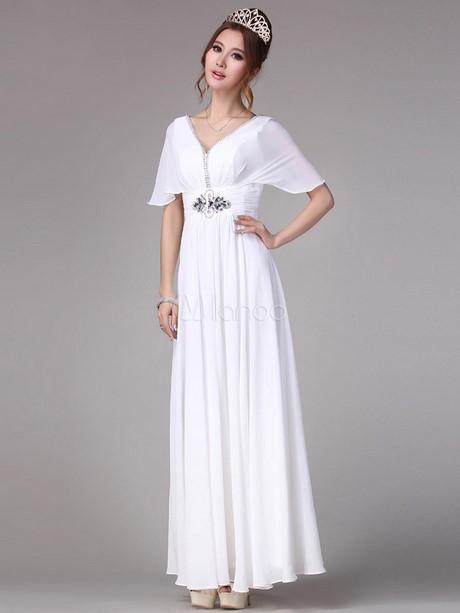robe longue blanche avec manches. Black Bedroom Furniture Sets. Home Design Ideas