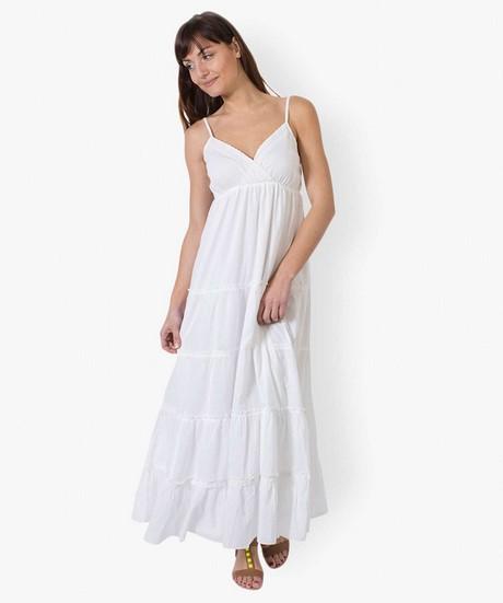 robe longue blanche boheme. Black Bedroom Furniture Sets. Home Design Ideas