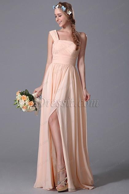 Robe longue rose poudr - Robe demoiselle d honneur rose poudre ...