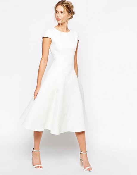 Robe blanche pour mariage civil for Robe blanche midi pour mariage