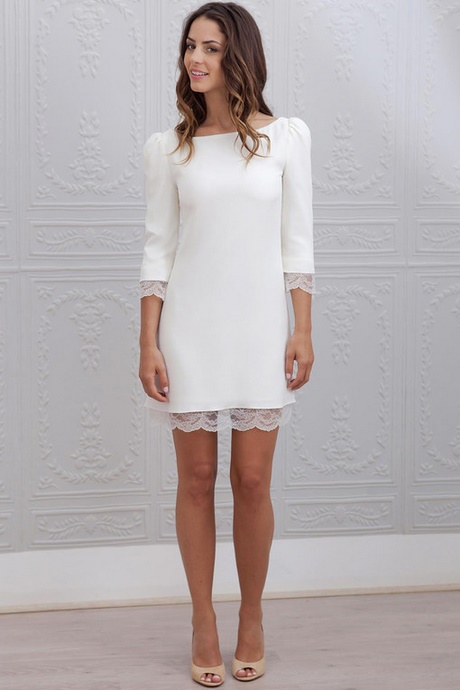 Robe blanche pour mariage civil for Robes pinterest pour mariage
