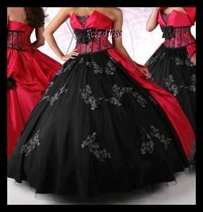 robe de mari e noir et rouge. Black Bedroom Furniture Sets. Home Design Ideas