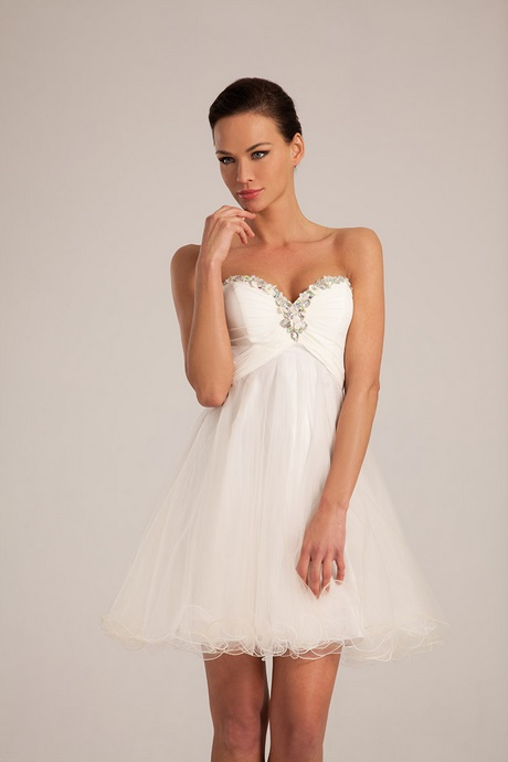 robe de mariee courte blanche