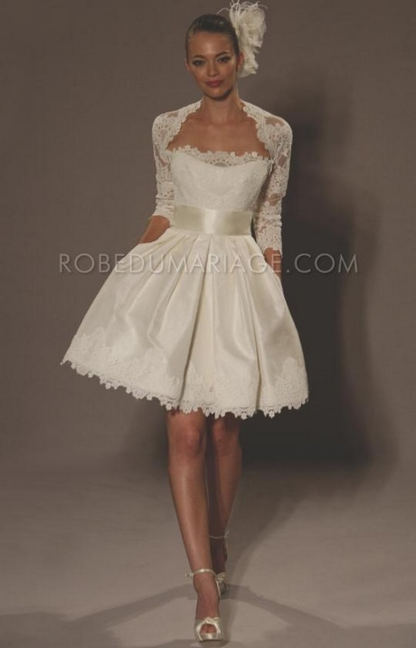 Robe mariage courte robe pour mariage civil for Robe de mariage en trou de serrure lazaro