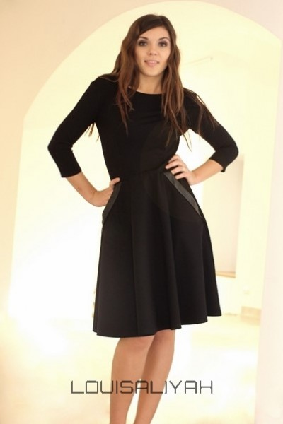 robe noire longue manches longues. Black Bedroom Furniture Sets. Home Design Ideas