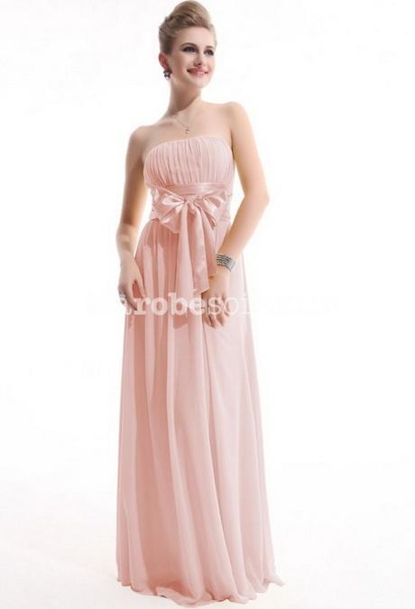 Robe bustier rose poudr - Robe demoiselle d honneur rose poudre ...