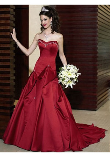 robe de mari e couleur rouge. Black Bedroom Furniture Sets. Home Design Ideas
