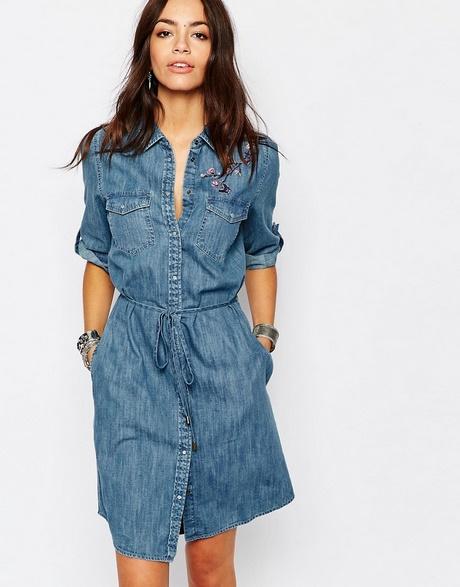 Womens Chambray Shirt Dress