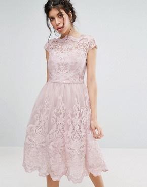 Robe Rose Poudr 233 Longue