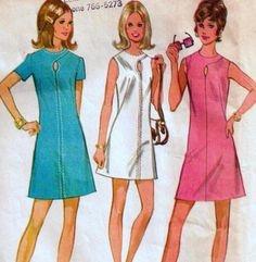 robe vintage ann e 70. Black Bedroom Furniture Sets. Home Design Ideas
