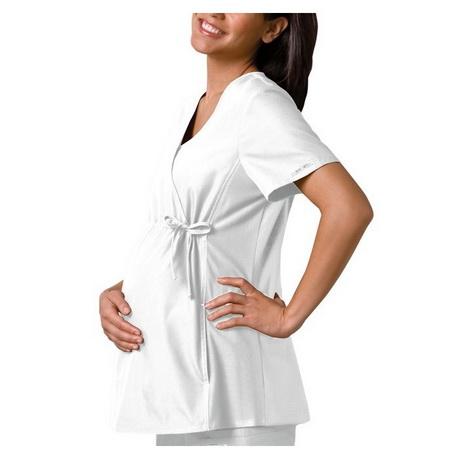 Blouse manches 3/4 en wax femme enceinte, tissu pagne africain, motif